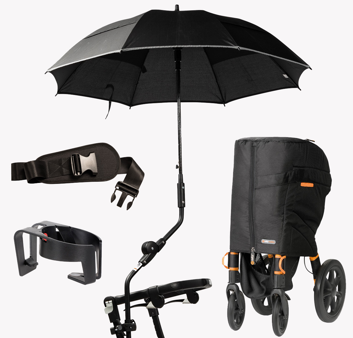 Accessories for the Rollz rollators