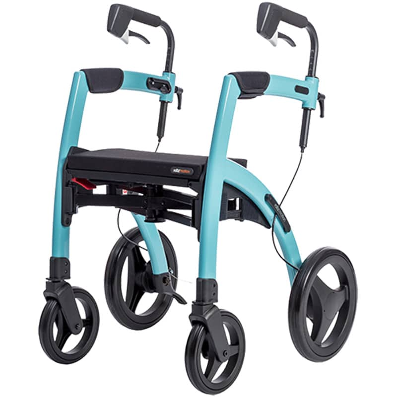 Stable rollator Rollz Motion in blue color