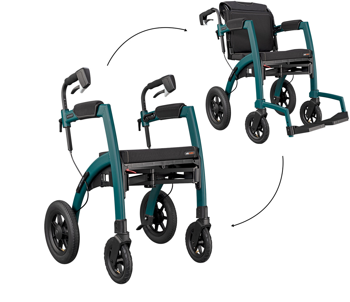 Rollz Motion Performance is the luxury version of the a Rollz rollator